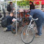 Reparaturen an Fahrrädern