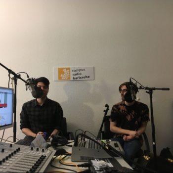 Musiker im Radiostudio