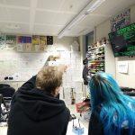 Im Fachschaftsraum Informatik