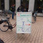 Aufsteller-Hinweisschild zum Fahrradcampus