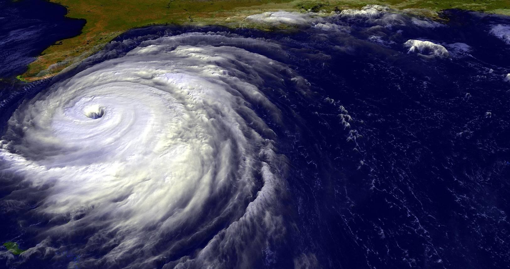 Luftbild eines Hurrikan