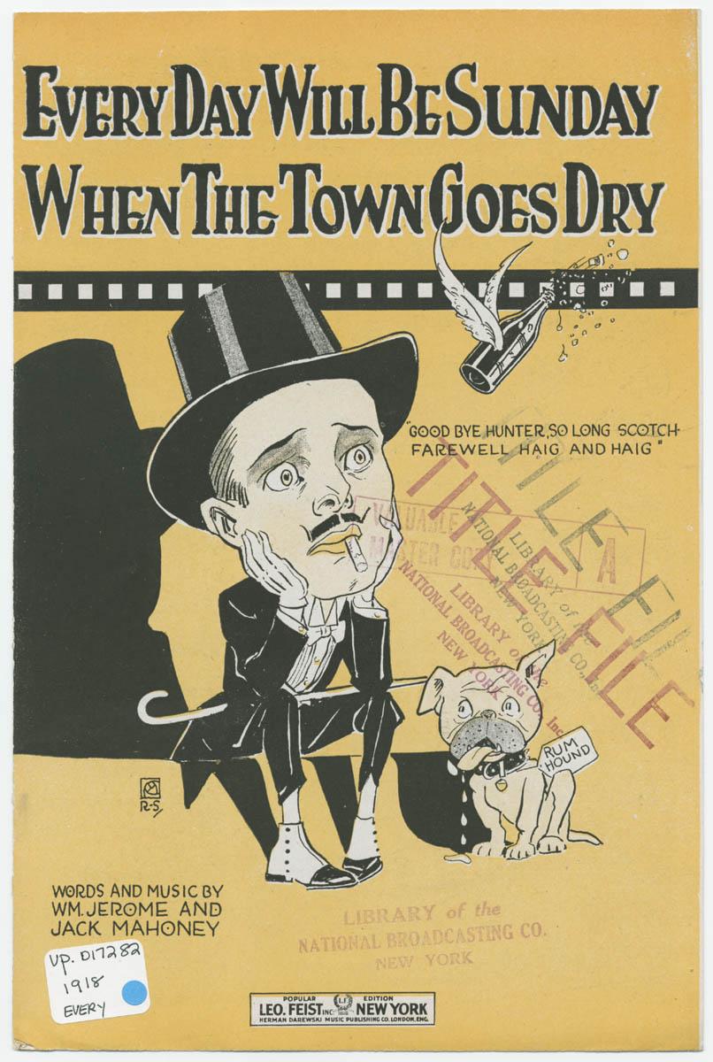 Historisches Plakat zur Prohibition