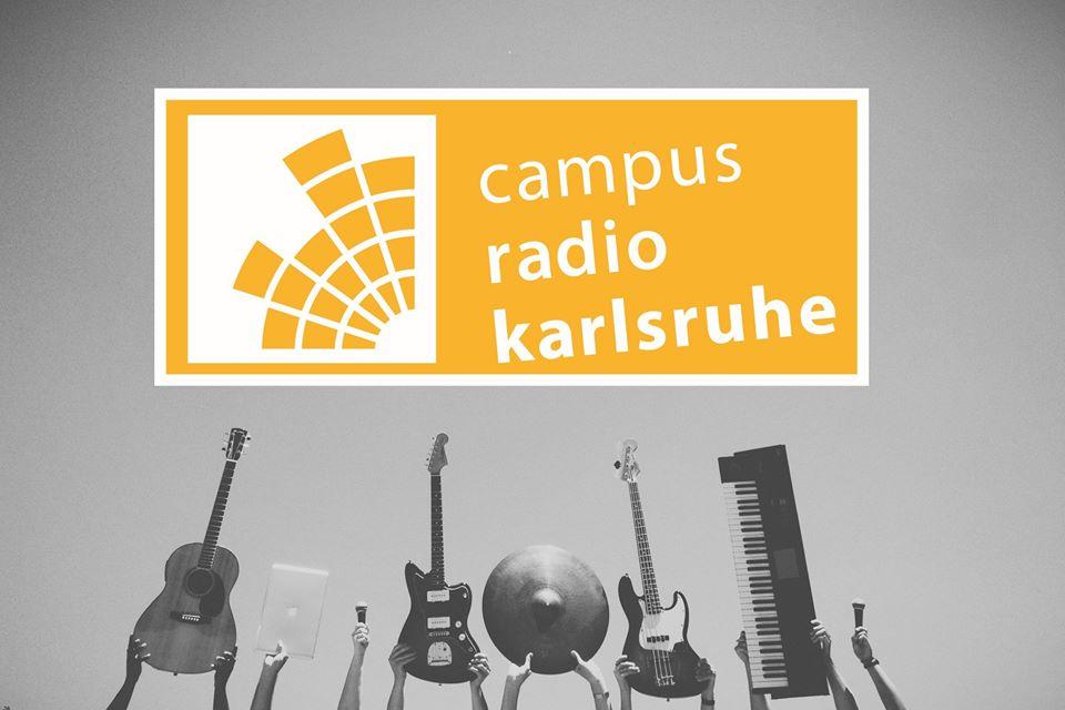 Instrumente und Campusradio-Logo