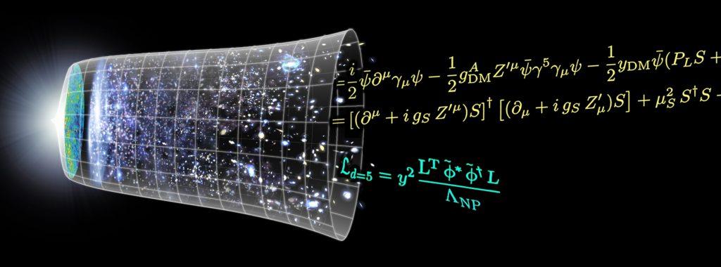 Illustration Urknall und Formeln