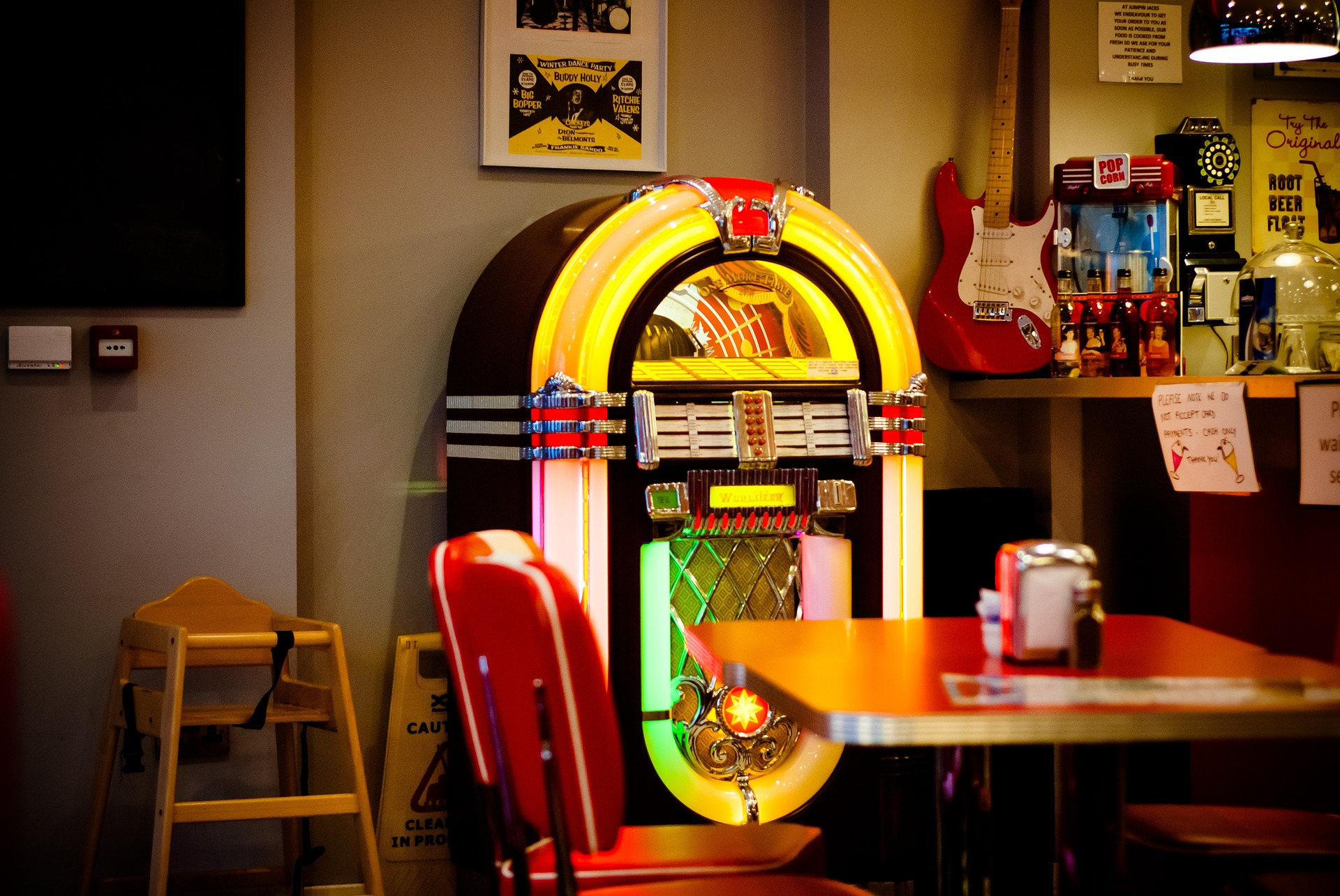 Jukebox im American Diner
