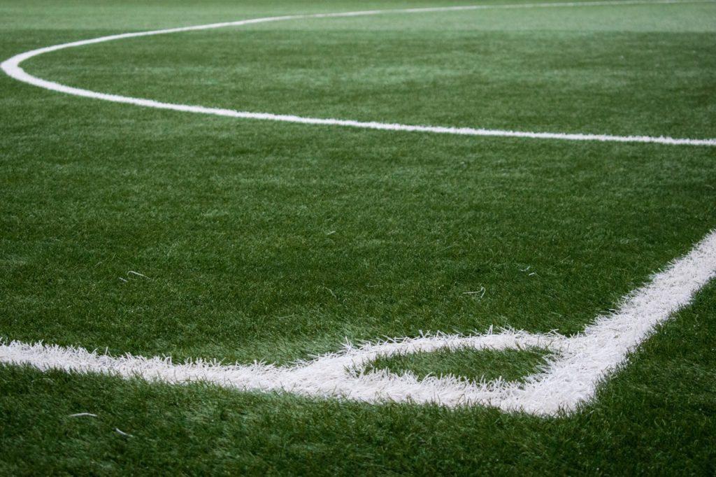 Ecke eines Fusßballfeldes