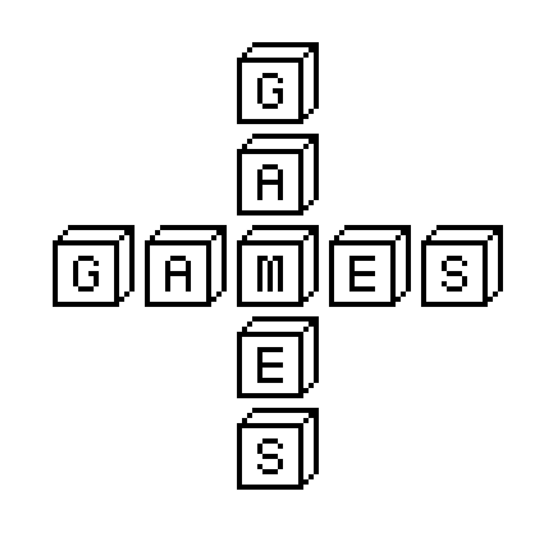 """Schriftzug """"Games"""""""