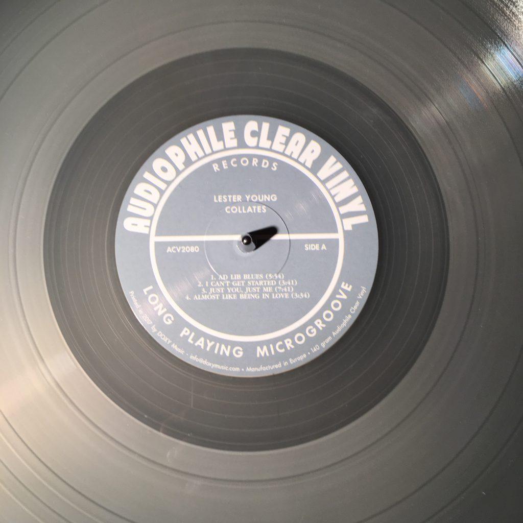 Schallplatte von oben gesehen
