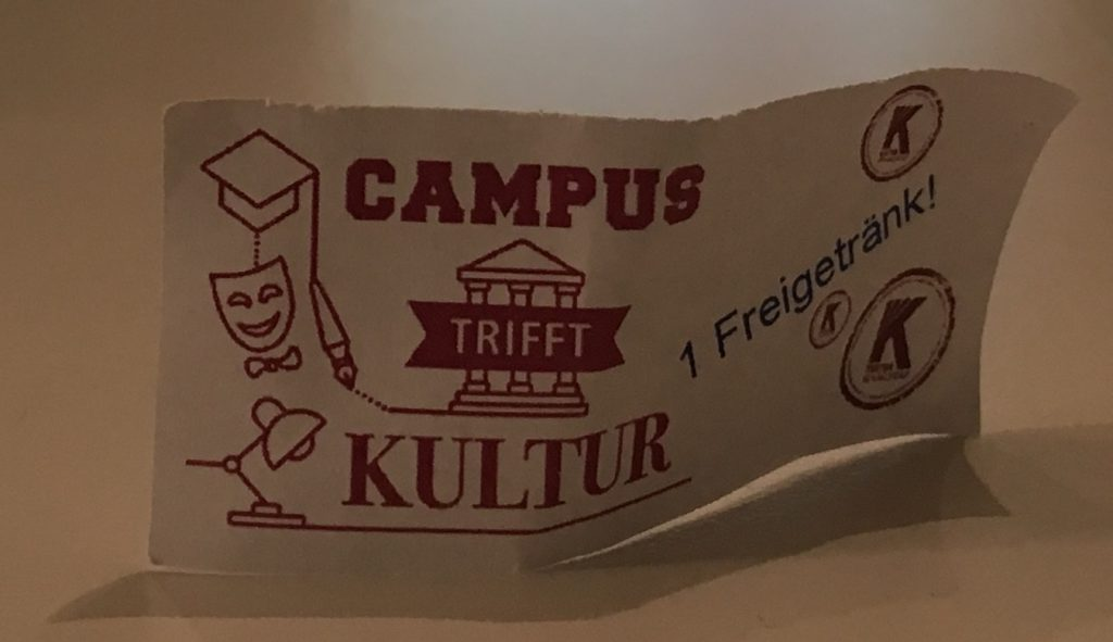 Ticket Freigetränk von Campus trifft Kultur