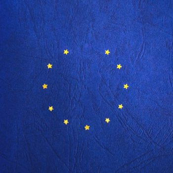 Aufgedruckte Europa-Flagge