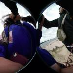 Aufnahme zweier Menschen mit 3D-Kamera