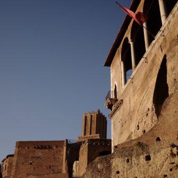 Ruine eines Hauses in Rom