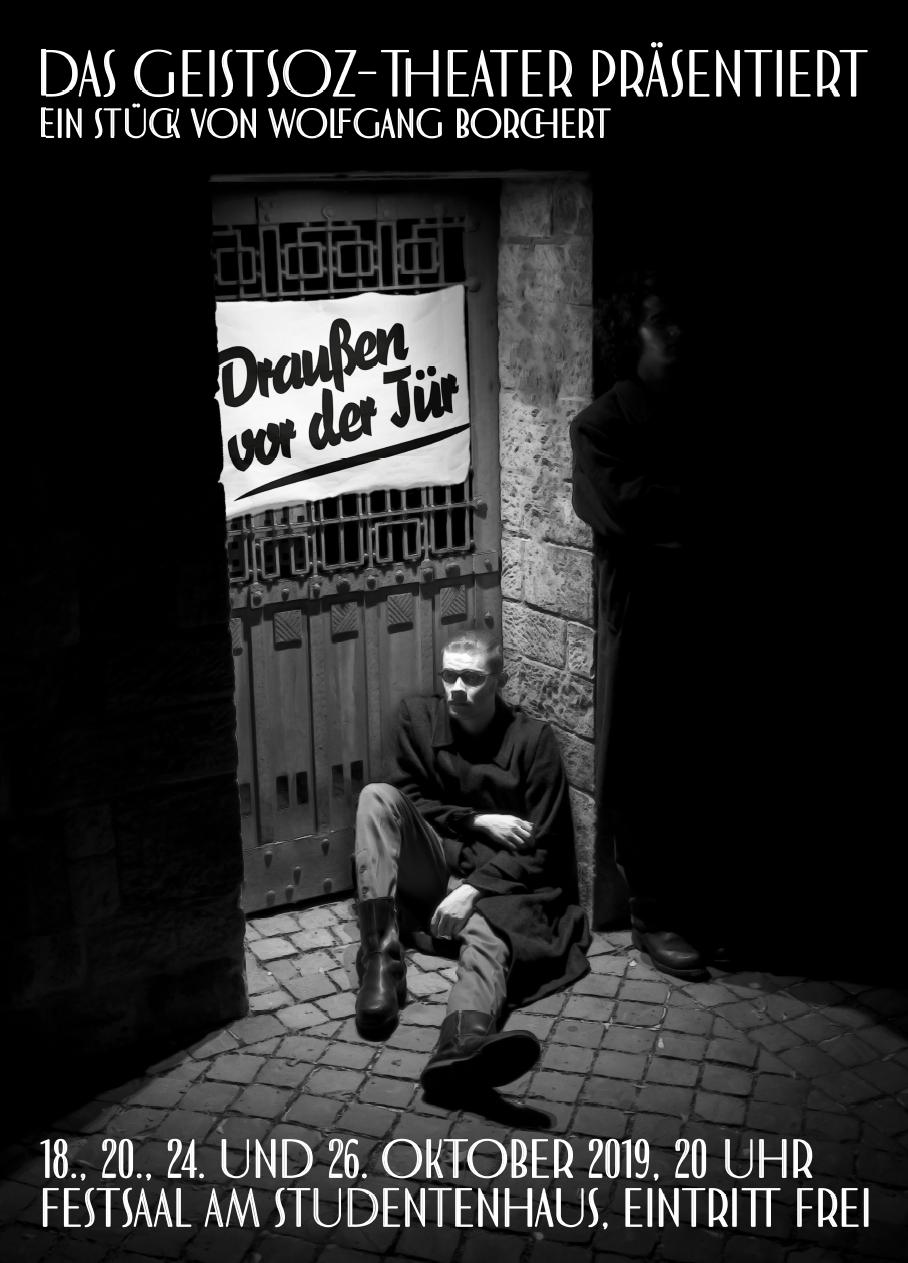 """Theaterplakat """"Draußen vor der Tür"""""""
