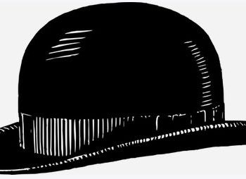 schwarzer Melonen-Hut