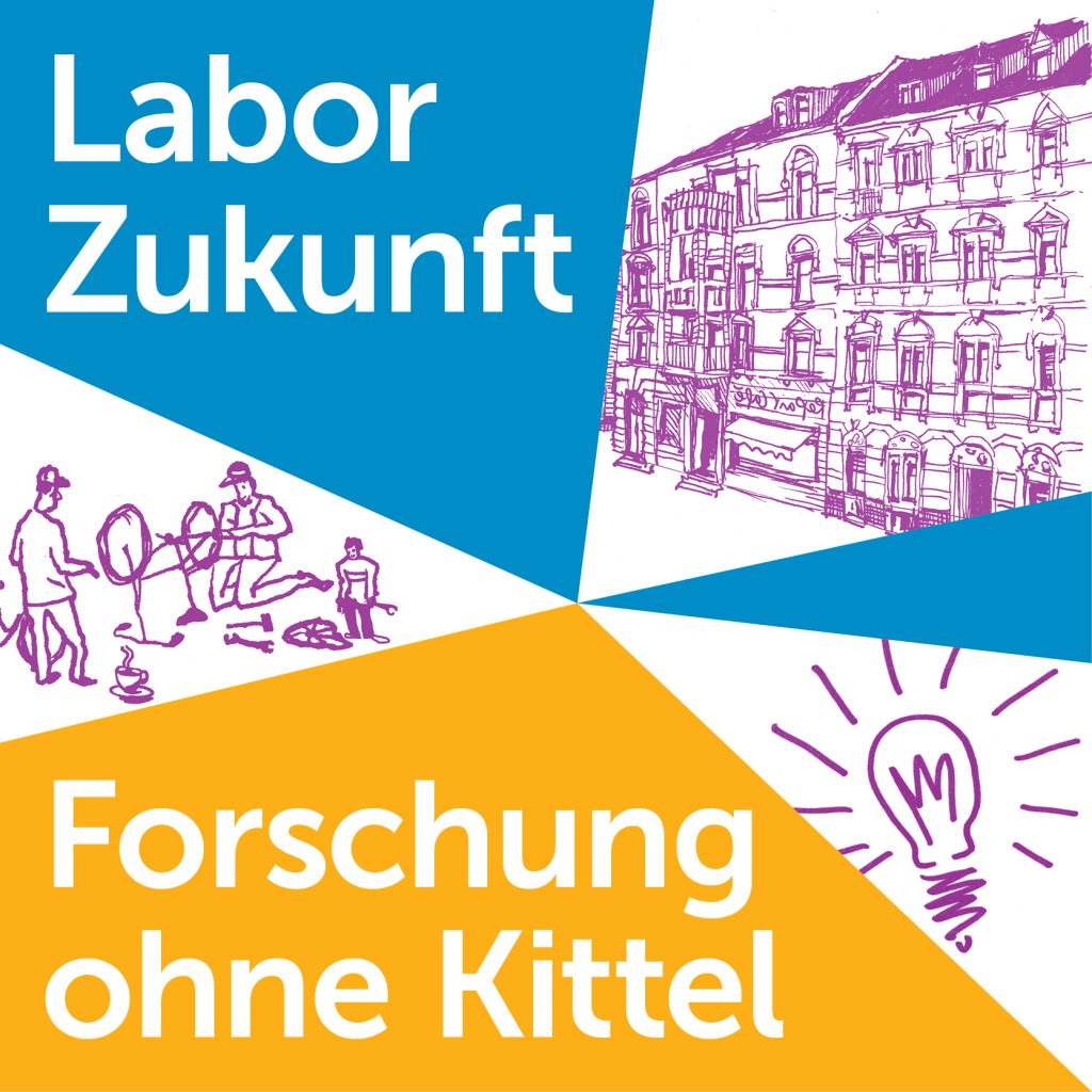 "Logo Podcast ""Labor Zukunft - Forschung ohne Kittel"""