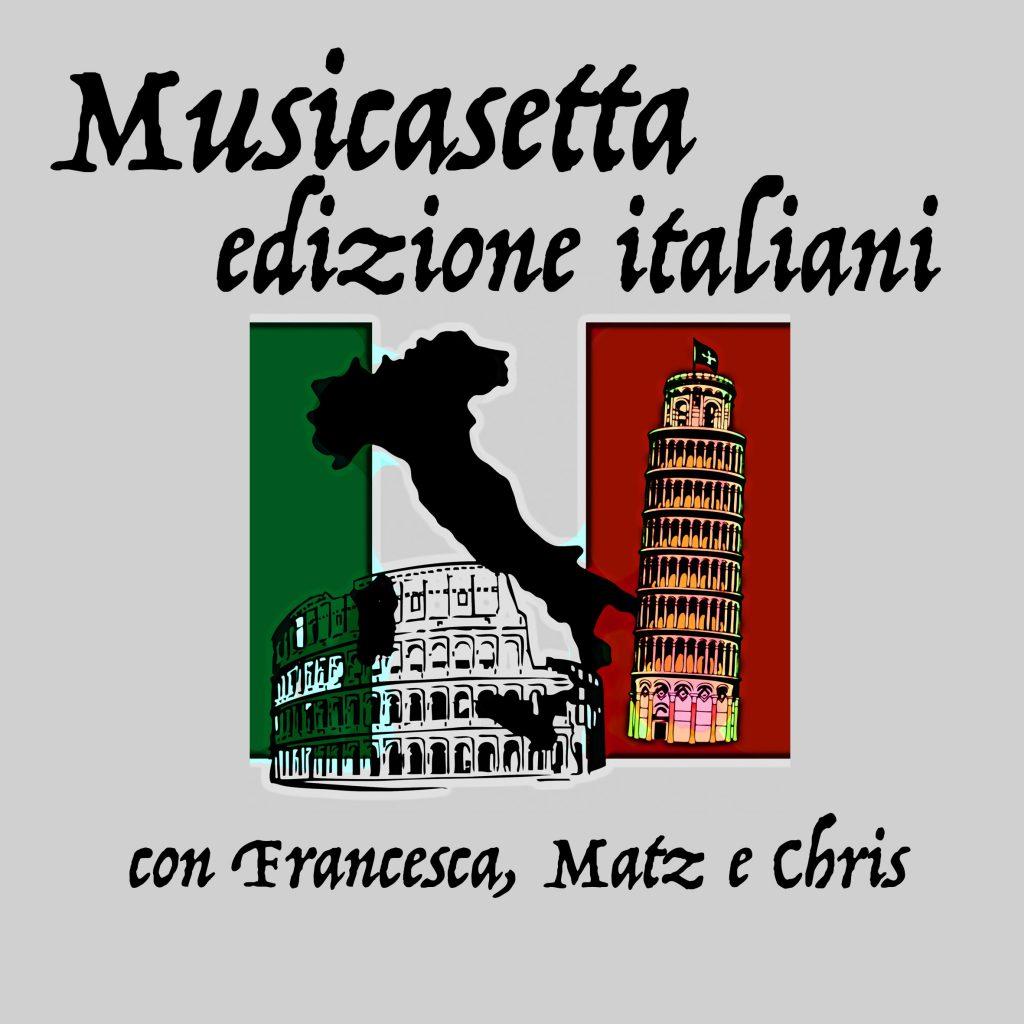 Cover der Sendung mit italienischer Flage und Sehenswürdigkeiten