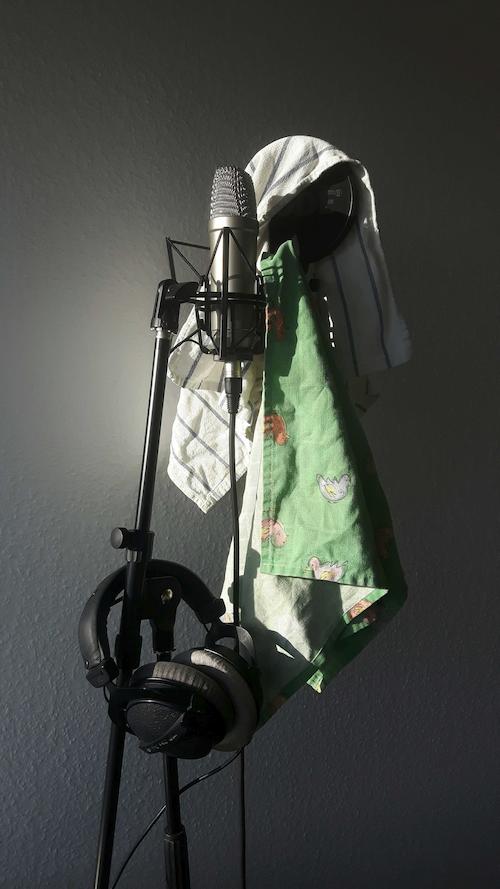 Mikrofon mit Putztuch