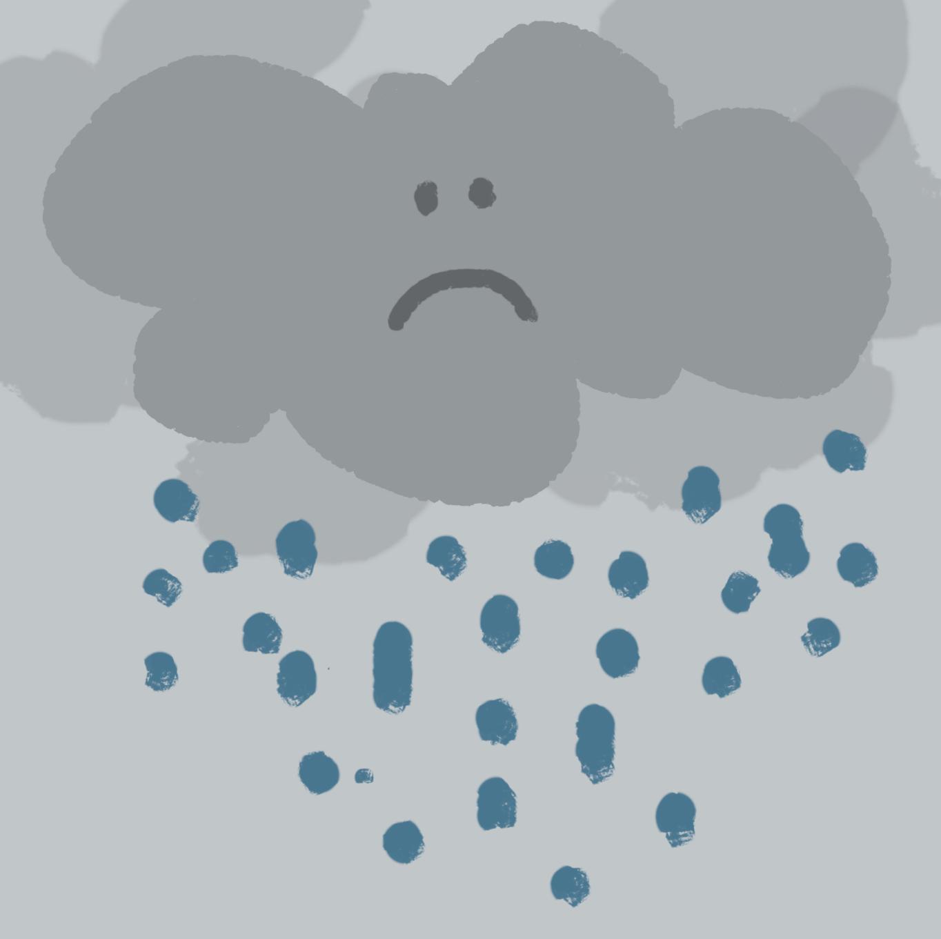 Traurige Wolke