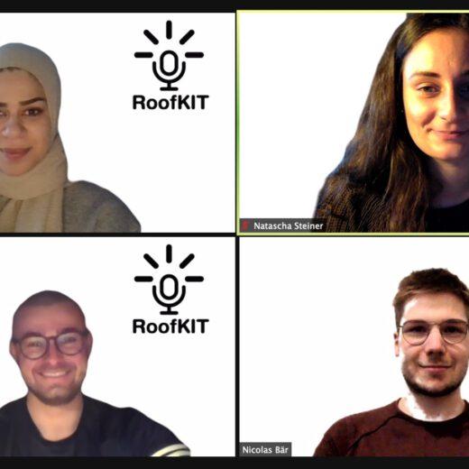 vier Studierende